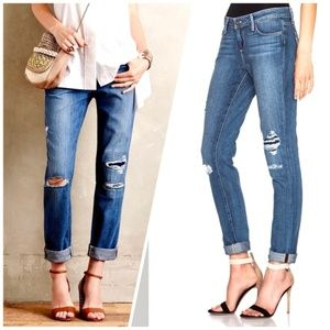 PAIGE Jimmy Jimmy Skinny Esme Destructed Jeans